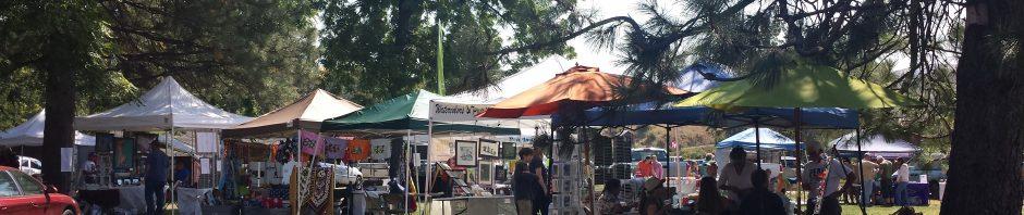 Cove Cherry Fair vendors ready to go early on fair-day morning.